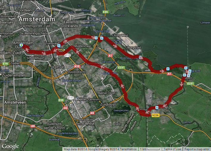 Amsterdam to Muiden and Back