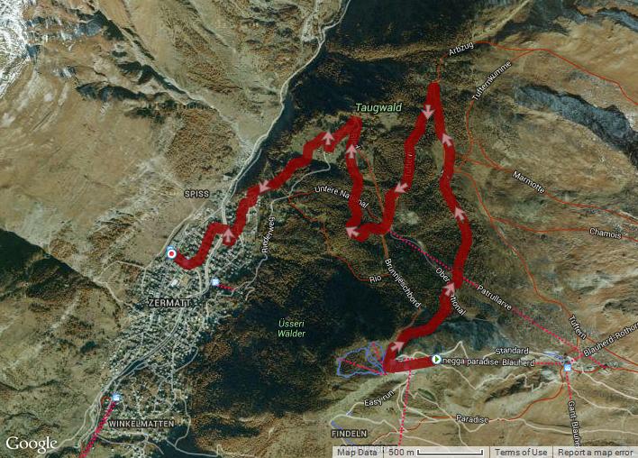 Hike: Sunnegga, Zermatt